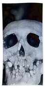 Scary Skull Beach Towel by Dan Sproul