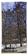 Scene From Central Park - Nyc Beach Towel by Madeline Ellis