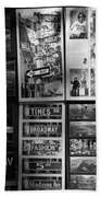 Scenes Of New York In Black And White Beach Towel