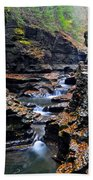 Scenic Cascade Beach Towel by Frozen in Time Fine Art Photography