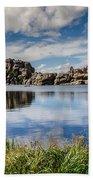Scenic Sylvan Lake At Custer State Park Beach Towel