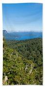 Scenic Urewera Np With Lake Waikaremoana In Nz Beach Towel