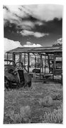 Schellbourne Station And Old Truck Beach Towel by Robert Bales