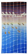 Schooner Race Horse Clouds Beach Towel