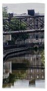 Schuylkill Canal In Manayunk Beach Towel by Bill Cannon