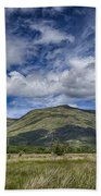 Scotland Loch Awe Mountain Landscape Beach Towel