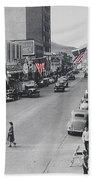 Scott Congress State Theater La Fiesta De Los Vaqueros Rodeo Banners Circa 1939 Tucson Az Beach Towel