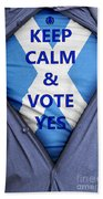 Scottish Businessman Votes Yes Beach Towel