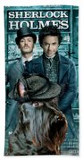 Scottish Terrier Art Canvas Print - Sherlock Holmes Movie Poster Beach Towel
