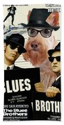 Scottish Terrier Art Canvas Print - The Blues Brothers Movie Poster Beach Sheet