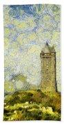 Starry Scrabo Tower Beach Towel