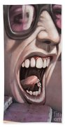 Screamer Beach Towel by Gillian Singleton