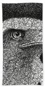 Scribble Eagle Beach Towel