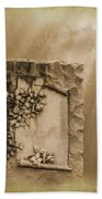 Scroll And Flowers The Forgotten Series 12 Beach Towel