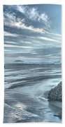 Sculptures On The Shore Beach Towel