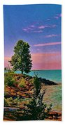 Sea And Tree Beach Towel