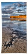 Sea Coal Saltburn Sunset Beach Towel
