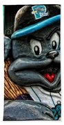 Sea Dogs Mascot Beach Towel