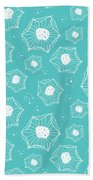 Sea Flower Beach Towel by Susan Claire