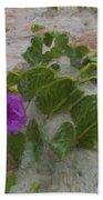 Sea Oat Purple Beach Towel