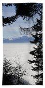 Sea Of Fog Over An Alpine Lake Beach Towel