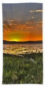 Sea Of Galilee Sunset Beach Towel