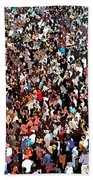 Sea Of People Beach Towel by Glenn McCarthy Art and Photography