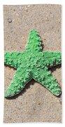 Sea Star - Green Beach Towel by Al Powell Photography USA