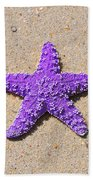 Sea Star - Purple Beach Towel by Al Powell Photography USA