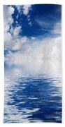 Sea Sun And Clouds Beach Towel