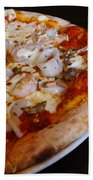 Seafood Pizza Beach Towel