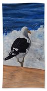 Seagull And Surf Beach Towel
