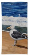 Seagull At The Seashore Beach Towel