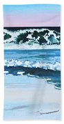 Seagull In The Sand Beach Towel