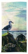 Seagull Lookout Beach Towel