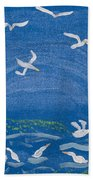 Seagulls Beach Towel by Melissa Dawn