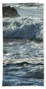 Seal Surfing Waves Beach Towel