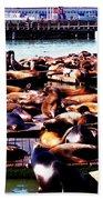 Seal Wharf Beach Towel