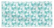 Seamless Pixel Pattern  Beach Towel
