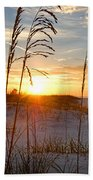 Seaoats Sunrise Beach Towel