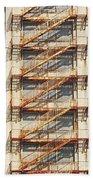 Sears Crosstown Fire Escape Memphis Tn Beach Towel