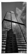 Sears Willis Tower Black And White 02 Beach Towel