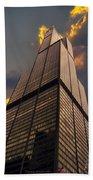 Sears Willis Tower Beach Towel