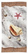 Seashell Pearls And Water Drops Collection Beach Towel