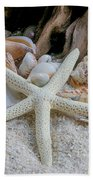 Seashells And Driftwood 2 Beach Towel