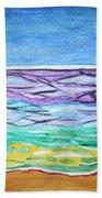 Seashore Blue Sky Beach Towel