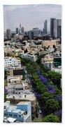 season change at Rothschild boulevard  Beach Towel