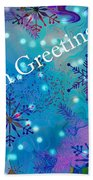 Season Greetings - Snowflakes Beach Towel