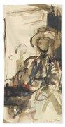 Seated Figure Woman Seated, Wearing Beach Towel