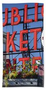 Seattle Market  Beach Towel